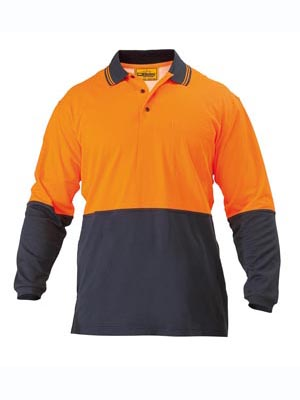 2 Tone Hi Vis Polo Shirt - Long Sleeve