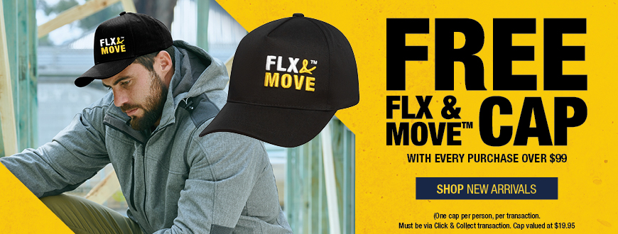 Free FLX & MOVE Cap with every Click & Collect purchase over $99